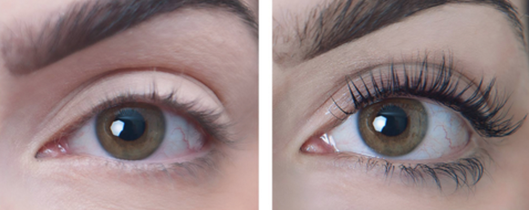 Lash lift befor and after